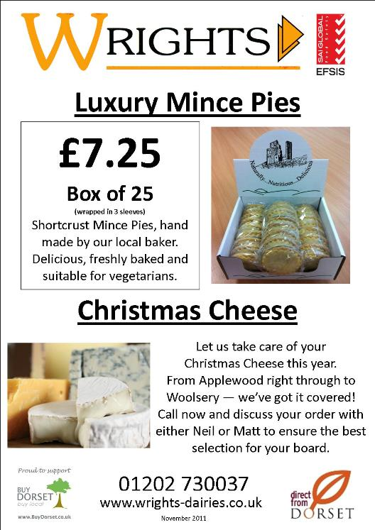 MInce Pies and Cheese